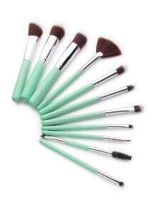 Mint Green Delicate Makeup Brush Set