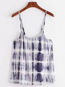 Navy Tie Dye Print Cami Top