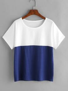 Color Block Dolman Sleeve T-shirt