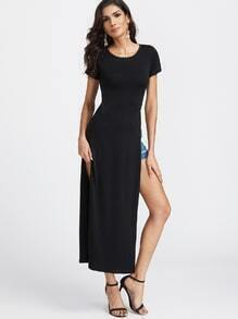 Black Split Maxi T-shirt