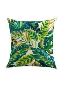 Green Plant Pillowcase Cover