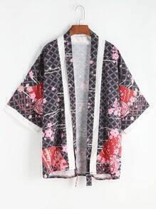 Floral Print Belt Top