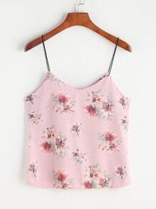 Top con estampado de flor - rosa