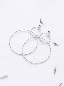 Silver Simple Hoop Earrings