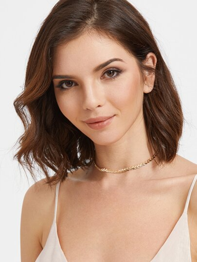 Gold Arrow Shaped Chain Choker