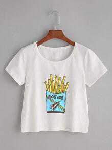 White Chips Print T-shirt