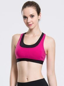 Color Block Crossover Bra