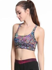 Abstract Print Bra