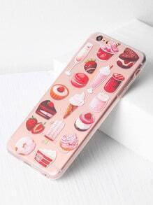 Snacks And Fruit Print iPhone 6 Plus/6s Plus Case