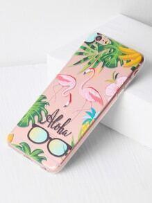 Flamingo And Sunglasses Print iPhone 6 Plus/6s Plus Case