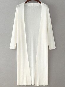 Drop Shoulder Seam Longline Cardigan
