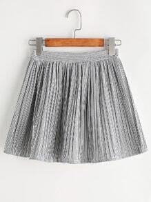 Vertical Pinstriped Elastic Waist Skirt
