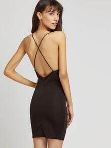 Criss Cross Back Sheath Slip Dress