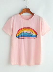 Camiseta estampada de dibujo