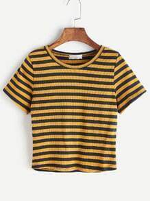 Pinstripe Knitted T-shirt