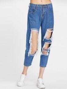 Extreme Rip Boyfriend Denim Jeans