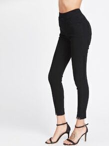 Split Front Elastic Waist Trousers