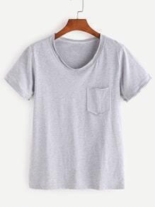 Camiseta con bolsillo delantero