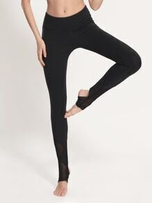 Active Mesh Paneled Stirrup Leggings