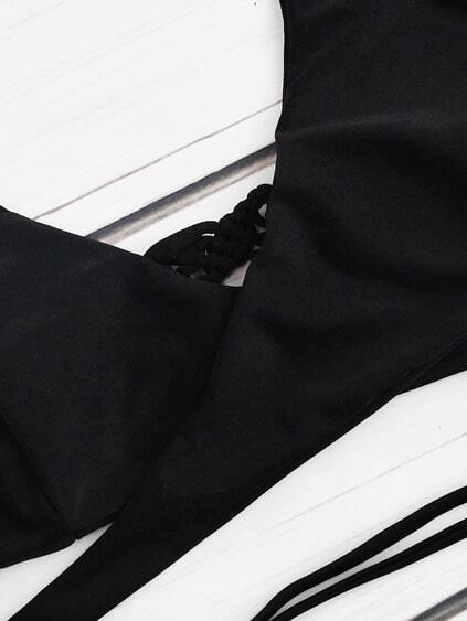 Crochet Detail Wrap Mix & Match Bikini Set