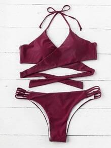 Sets de bikini cruzado con abertura