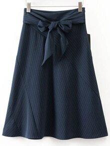 Knot Front A Line Obi Belt Skirt