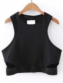 Sleeveless Cut Out Detail Top