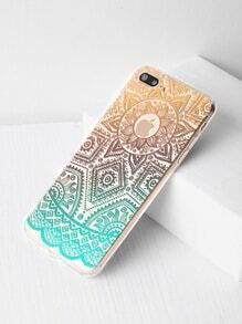 Ombre Tribal Pattern Clear iPhone 7 Plus Case