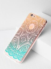 Ombre Tribal Pattern Clear iPhone 6 Plus/6s Plus Case