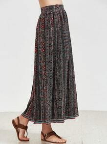 Multicolor Tribal Pattern Woven Jacquard Skirt