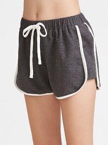 Pantalones cortos con cordón - gris oscuro