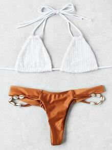 Shell Detail Mix & Match Triangle Bikini Set