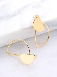 Semi-Circle Stud Earrings