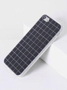 Funda para iPhone 7 con estampado de cuadrícula