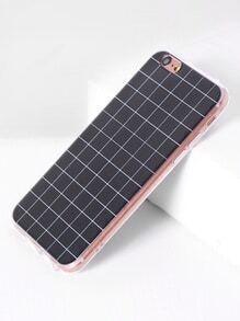 Funda para iPhone 6/6s con estampado de cuadrícula