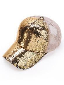 Sequin Detail Baseball Hat