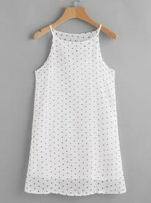 Textured Dots A-Line Cami Dress