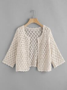 Crochet Scalloped Hollow Out Top