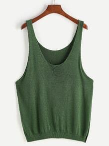 Split Side Knit Tank Top