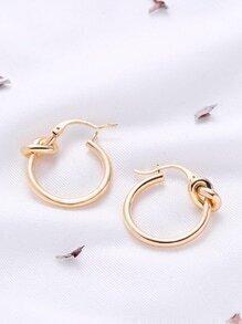 Knot Design Hoop Earrings