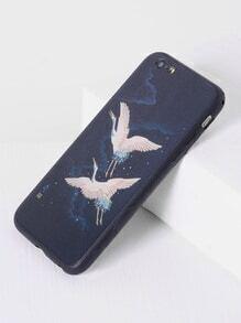 Double Crane Print iPhone 6/6s Case
