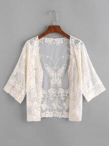 Embroidered Lace Sheer Top