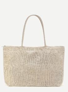 Strand-Art-Stroh-Taschen-Tasche