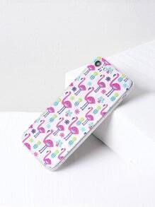 Flamingo And Pineapple Print iPhone 7 Case