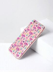 Flamingo And Pineapple Print iPhone 6/6s Case