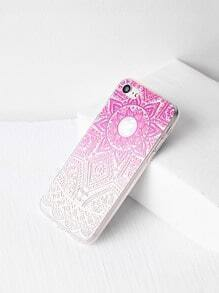 Ombre Tribal Pattern Clear iPhone 7 Case