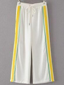 Pantalons sportifs à rayures