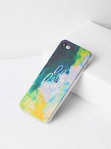 Watercolor And Letter Print iPhone 7 Case