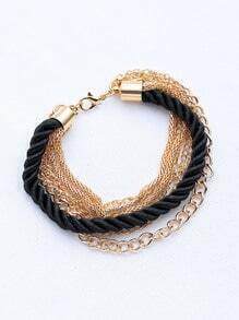 Contrast Layered Chain Bracelet