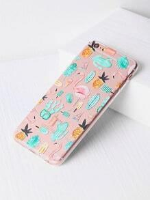 Flamingo And Plant Print iPhone 6 Plus/6s Plus Case
